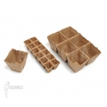 Assorted peat plant containers square