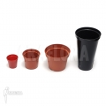 Assorted plant pots